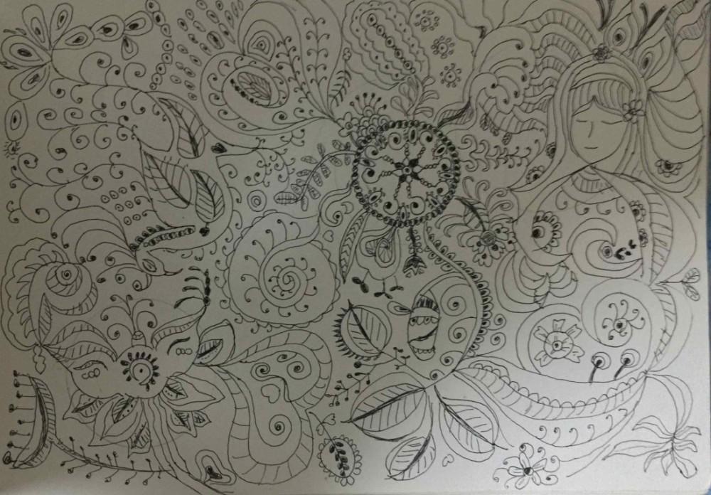 ゼンタングルは描いて瞑想の効果のあるパターンアート!