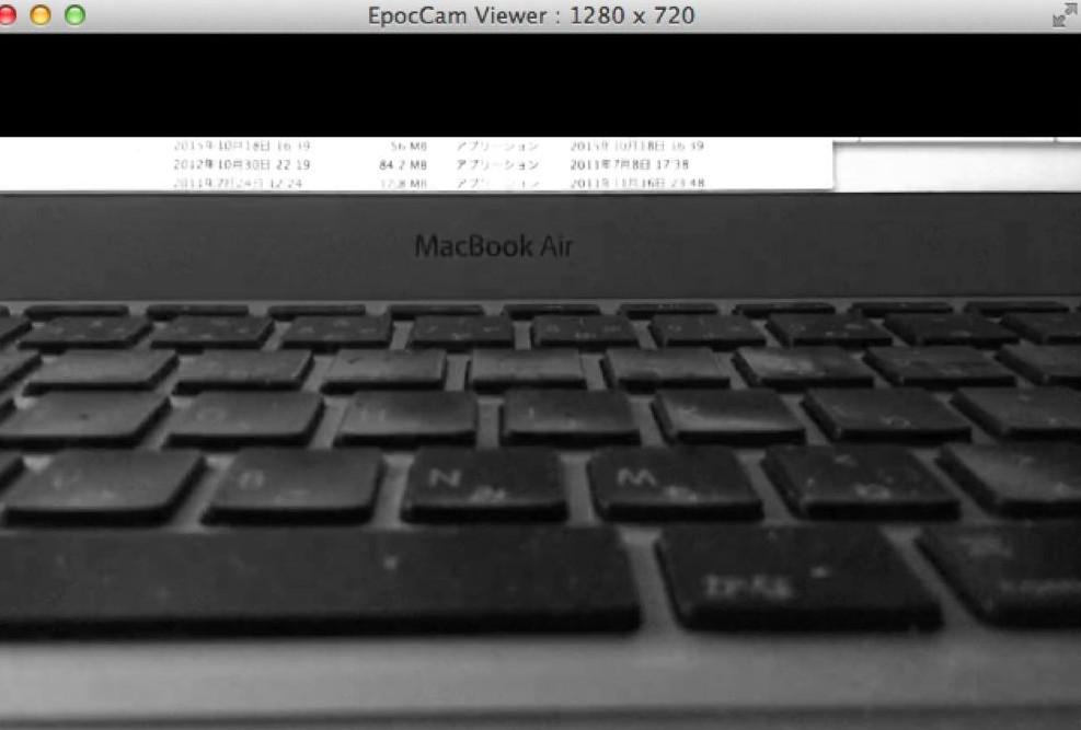 iPhoneをmacbook airのウェブカメラとするEpocCamを入れてみた